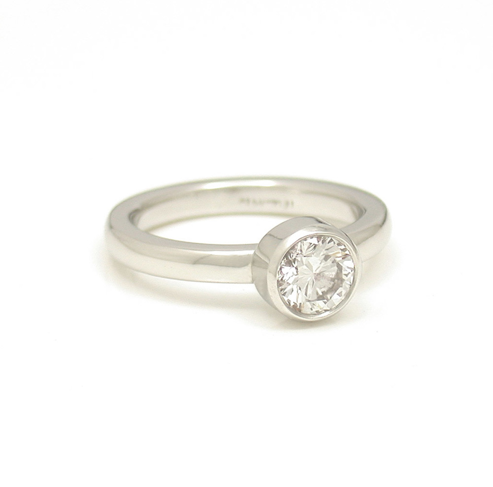 Bezel Top Solitaire Ring