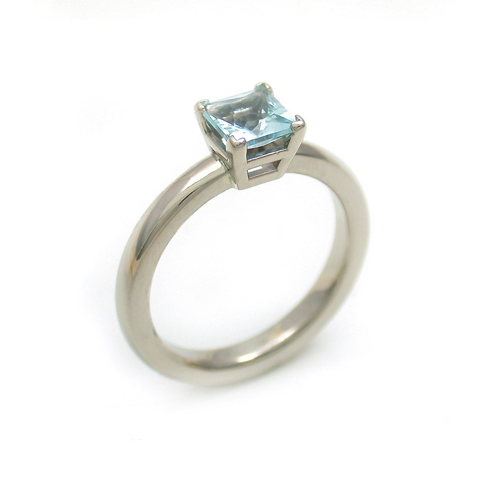 Aquamarine Princess Ring
