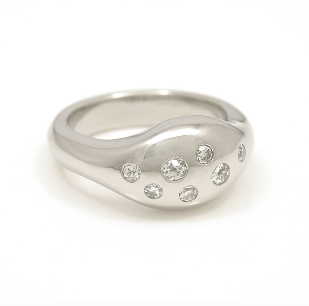 Gypsy Set Multi-Diamond Ring