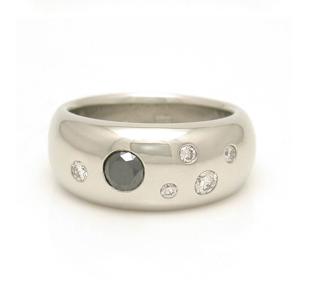 Black Diamond Studded Ring