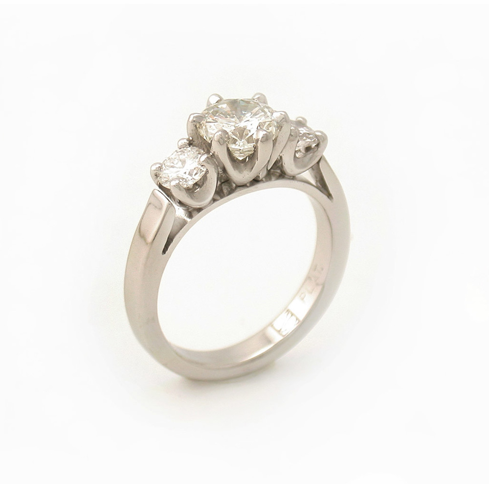 Cathedral Style 3-Stone Ring