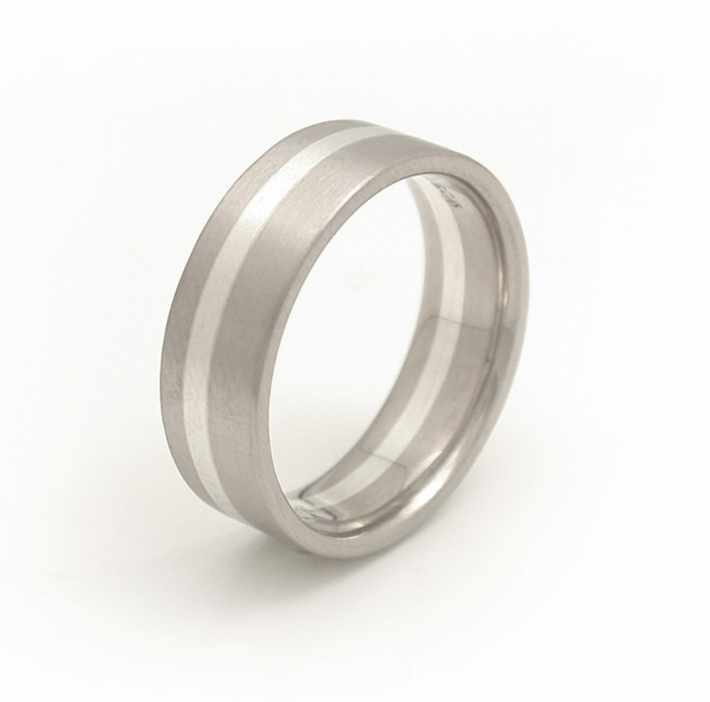 3-Part Mixed Metal Asymmetric Wedding Band