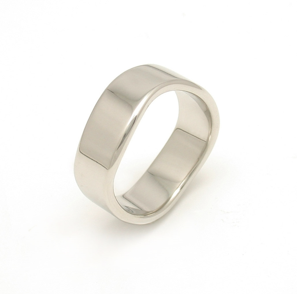 Double Wave Edge Wedding Band