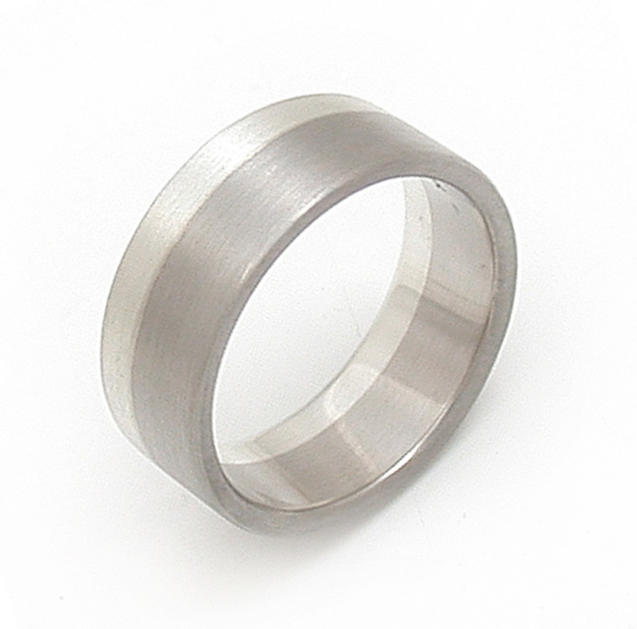 Mixed Metal Asymmetric Wedding Band