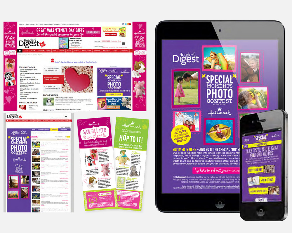 Hallmark Integrated Program: Print   •   Microsite   •   Online Contest   •   Promotional Ad Units   •   App