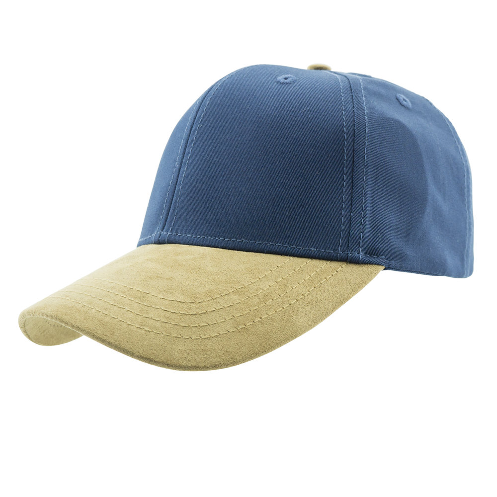Baseball Cap in Navy Blue and Brown-Side1.jpg