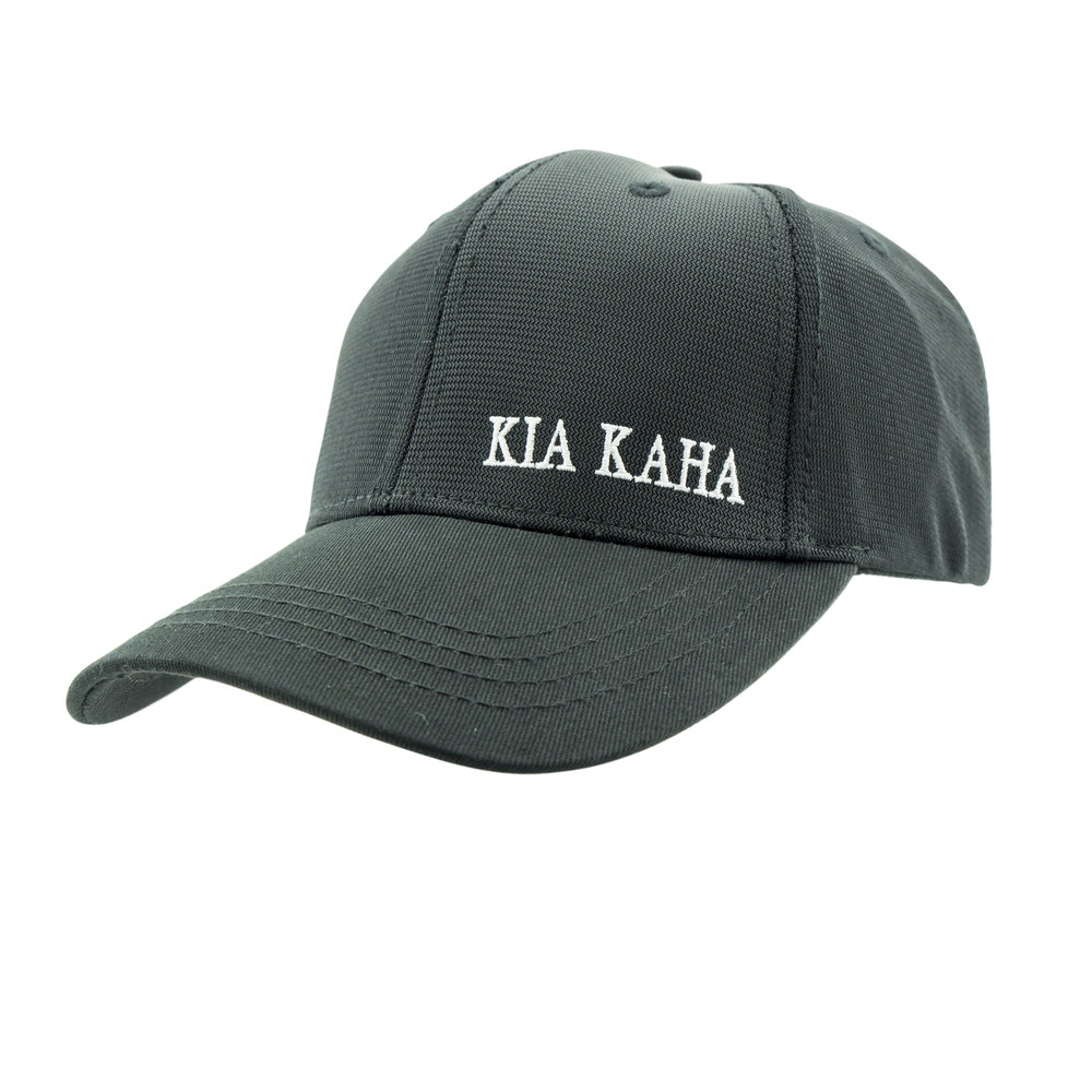 Kia Kaha Baseball Cap in Black-Side2.jpg