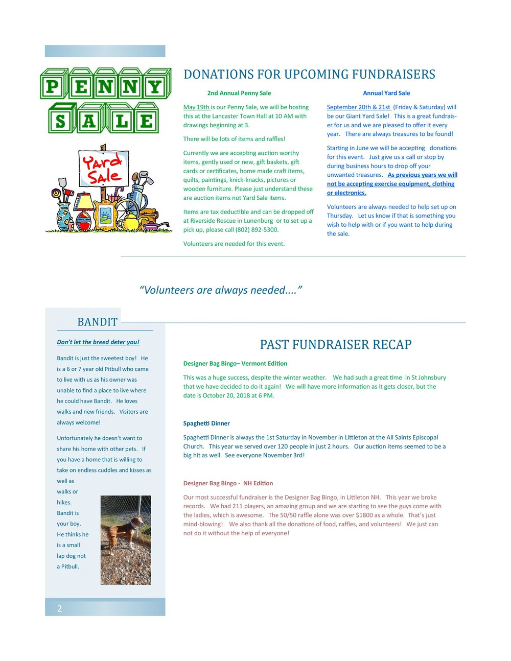 Spring 2018 Newletter Page 2