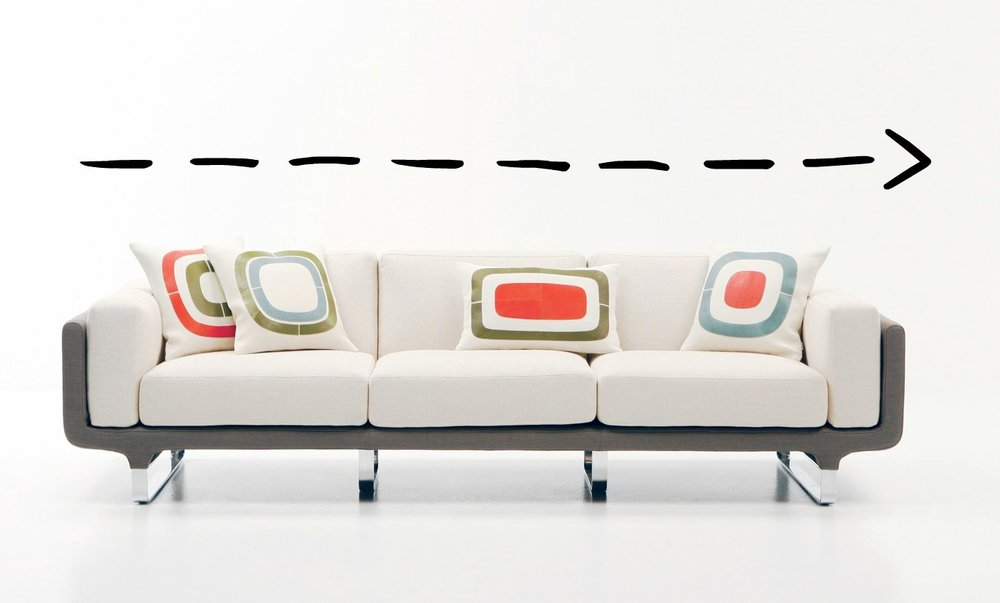 """*sofa Sectional:This is usually a big """"L"""" shape; sometimes even a """"U"""" shape. Sectionals can be big or small, but generally run on the large side. They can have arms on each end, but often there is an arm only on one end, and a chaise or return on the other end."""