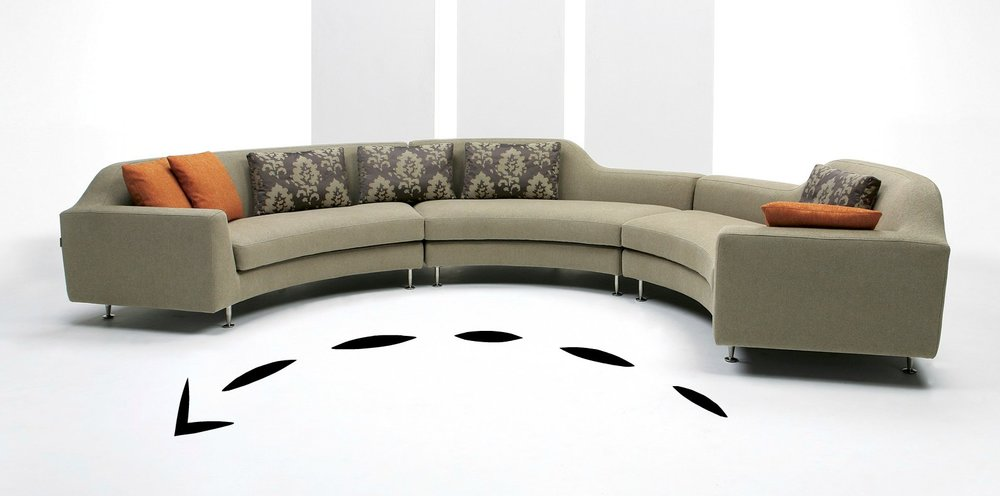 *U-Shape Sectional with Chaise:When a sofa has an extended area for your legs on one end (essentially like an attached ottoman) that is called a sectional with chaise.