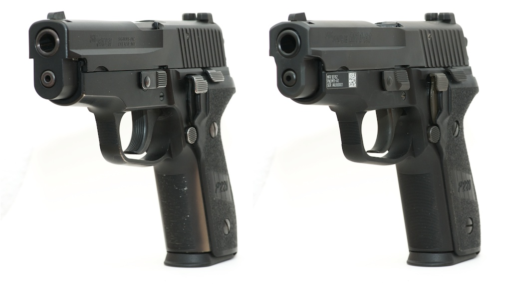 M11 A1 vs P228 side by side