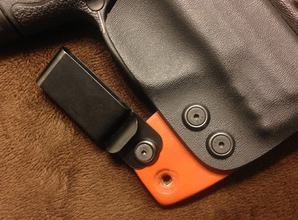 Hearty 4 In 1 Iwb & Owb Leather Holster For S&w Shield Inside The Pant. Sporting Goods