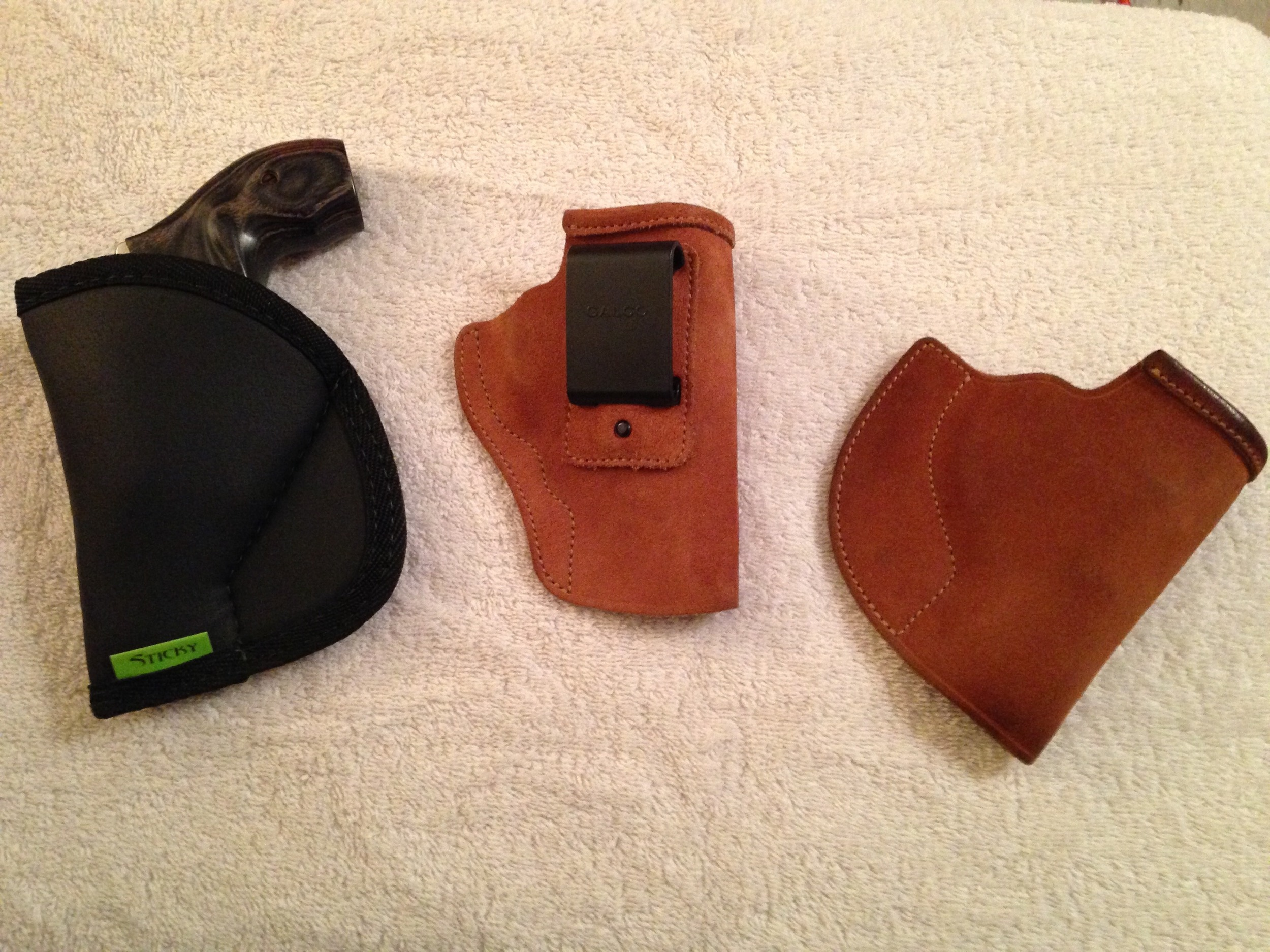 The Sticky Holster can potentially serve as a pocket & IWB holster