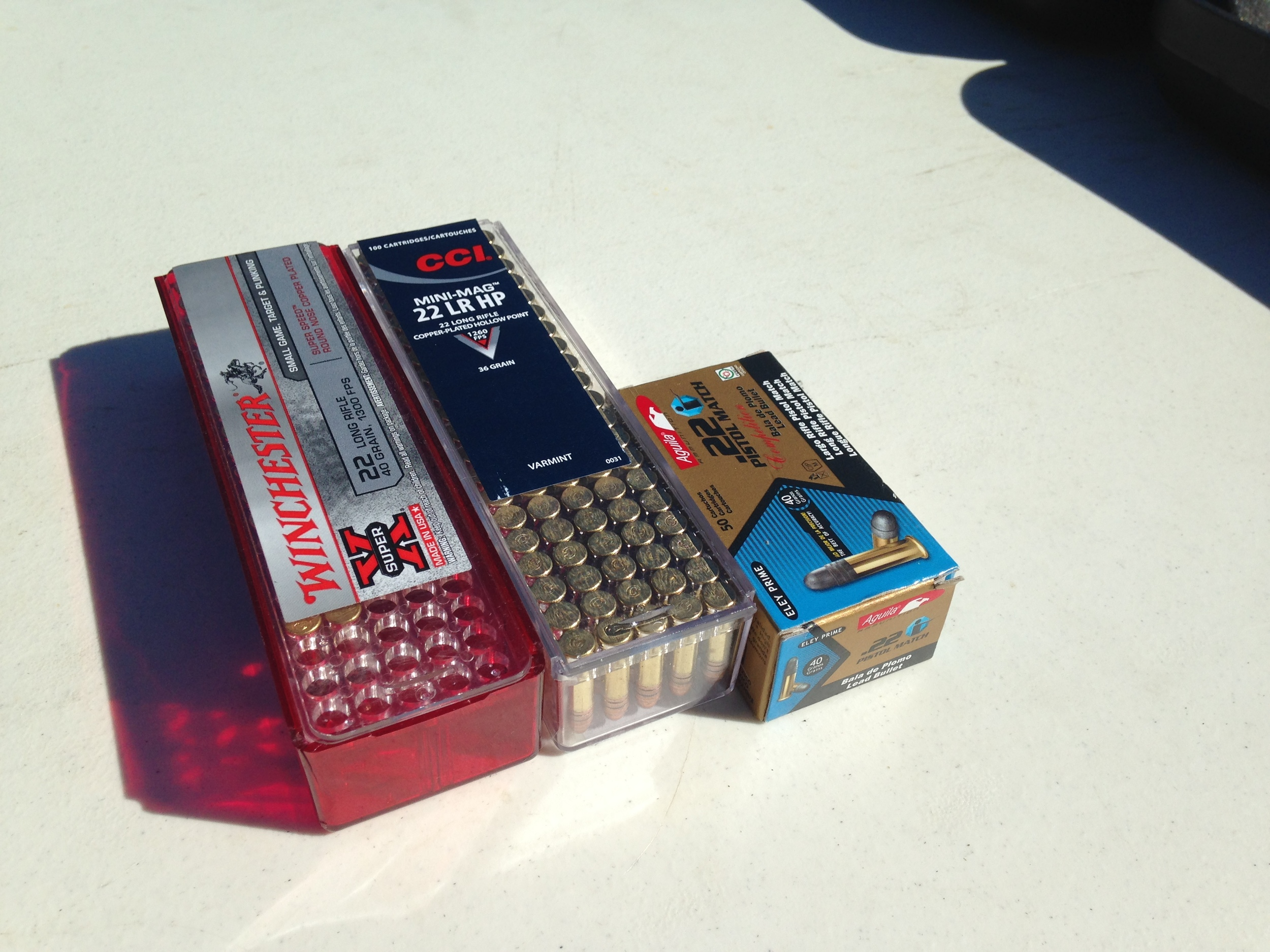 Multiple brands & types of ammo were used in the evalutation
