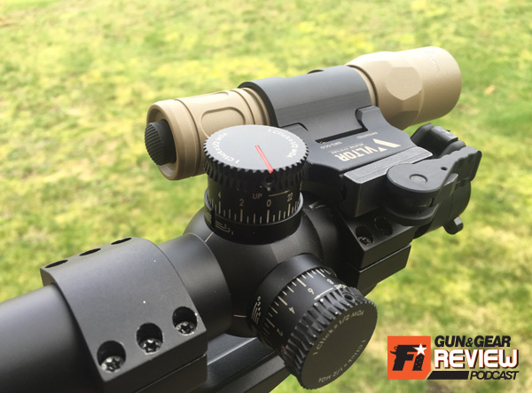 Got tactical scope rings? The SM-O makes for a great optic mounted light for nighttime shooting without interfering with scope turrets.