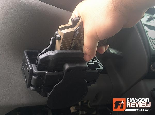Finally, an easy and smart way to mount a holster under the dashboard of your vehicle!
