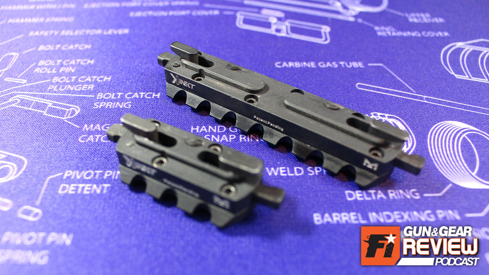 What seems like an invention straight out of James Bond's Q Labs, the spring loaded wedges that activate upon contact with the host M-LOK rail is pretty clever.