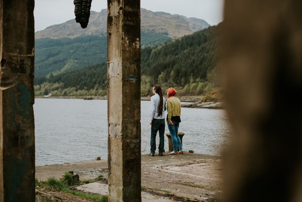 romantic and natural  wedding photography in loch lomond, artistic and documentary wedding p