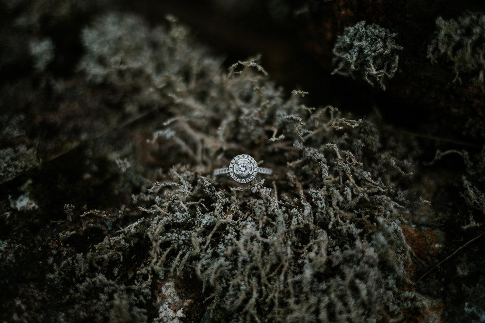 Engagement ring. Glencoe & Scottish Highlands Wedding, Engagement and Elopement Photographer