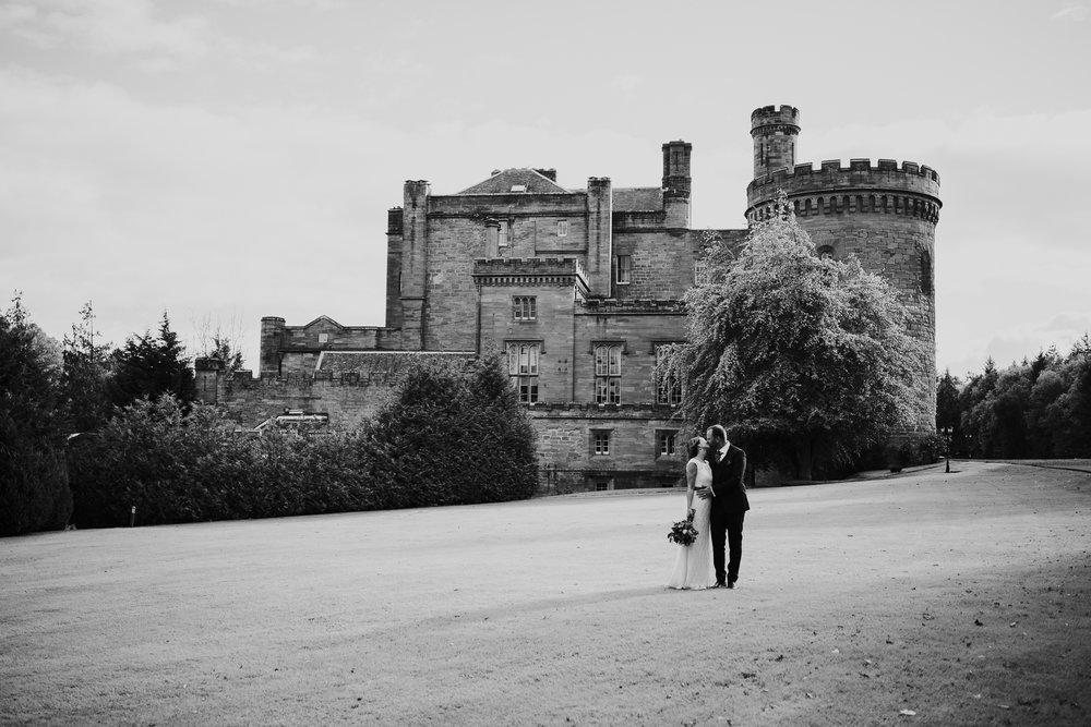 Romantic kiss, Dalhousie castle.