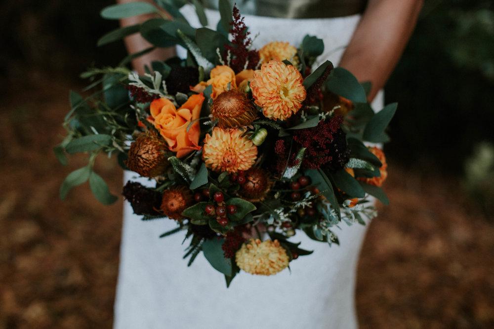 Bridal flower bouquet.