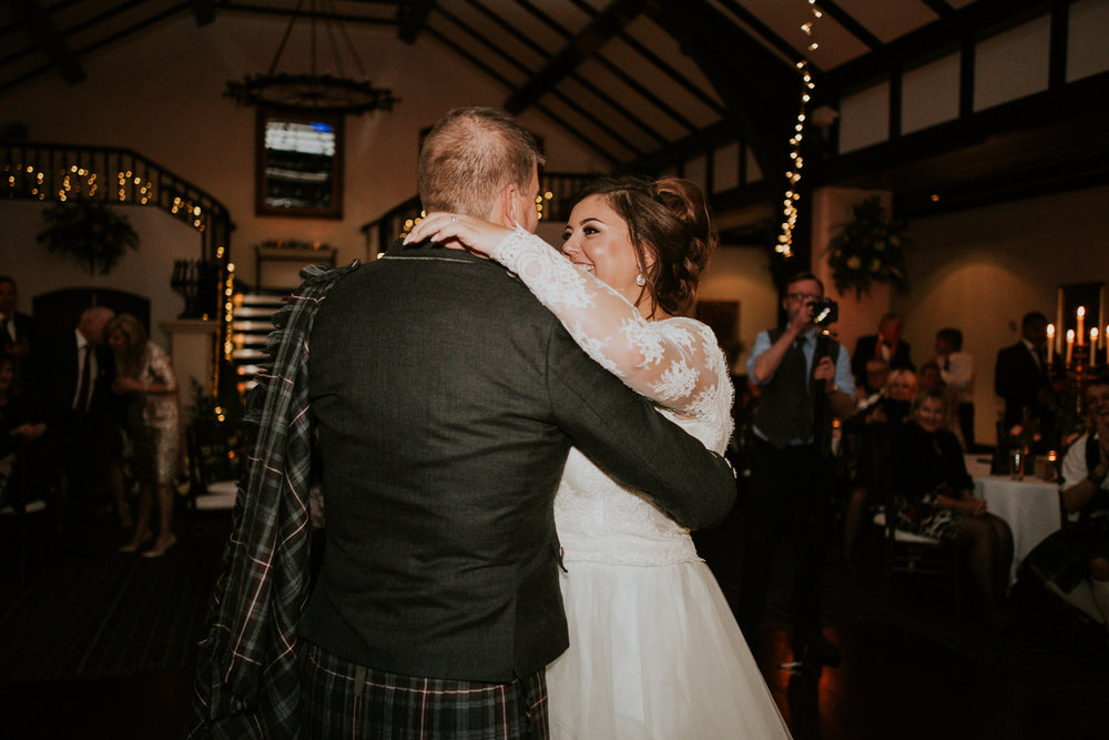 Couple's first dance as a husband and wife