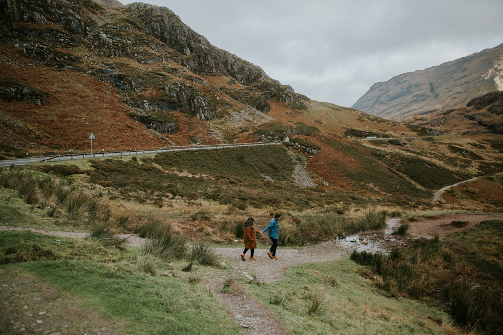 Adventurous couple photoshoot in Glencoe, Scotland