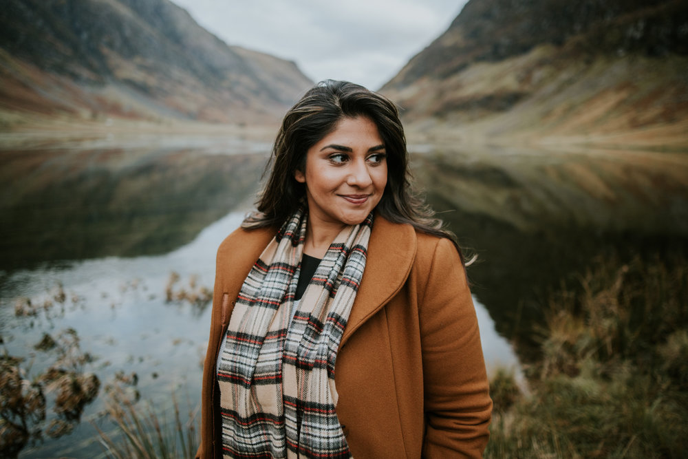Bridal portrait in Glencoe, Scotland