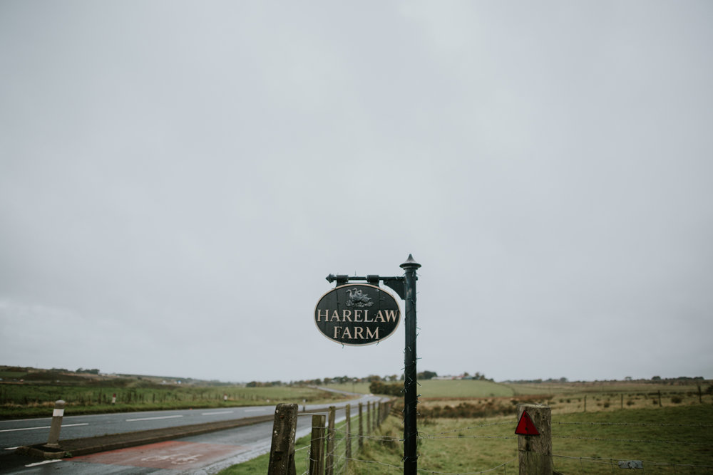 Harelaw farm entrance, Ayrshire wedding photography