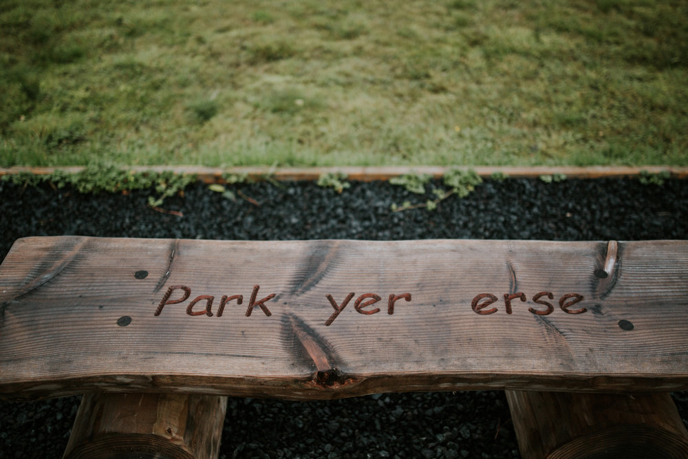 DIY details at the Harelaw Farm, Ayrshire wedding photographer