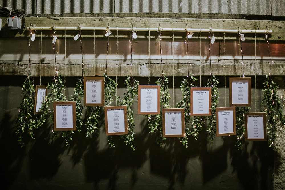Rustic table names, Harelaw farm, Ayrshire