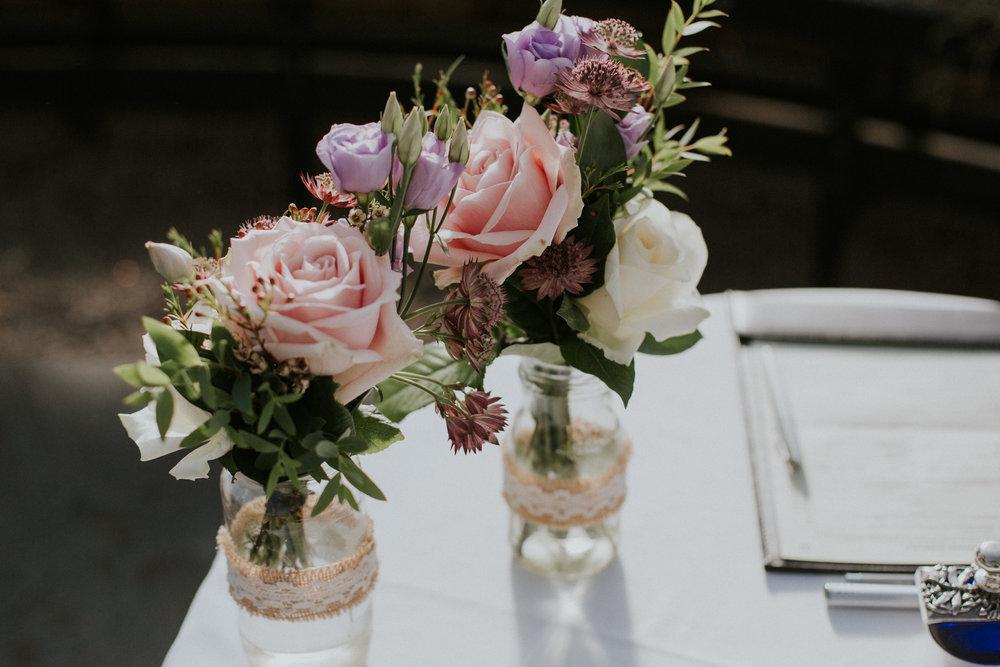 Table wedding decor at the Botanic Gardens in Glasgow