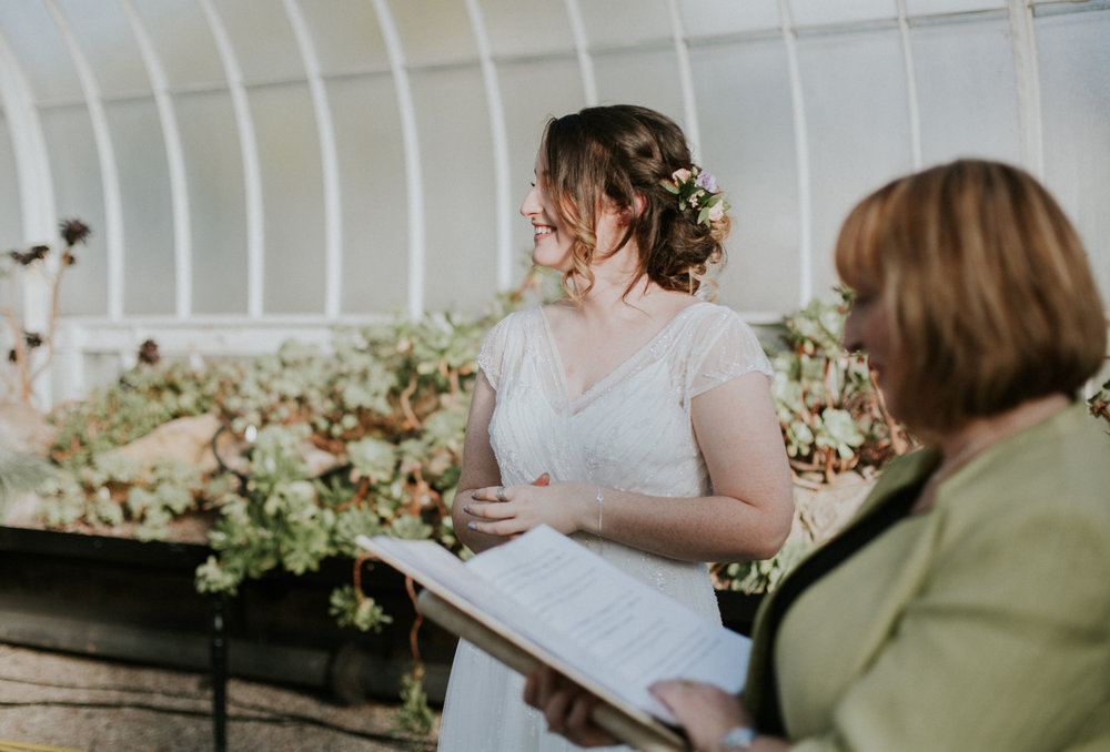 The stunnig bride's hair style by Jenna Clayton Make Up & Hair Artist