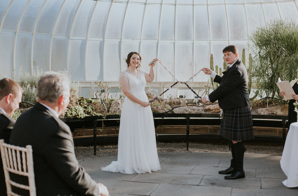 Tied the knot at the Botanic Gardens in Glasgow