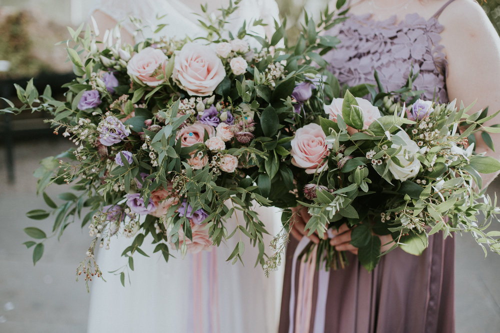 The wild and alternative wedding bouquets by the talented Make Believe Floristy