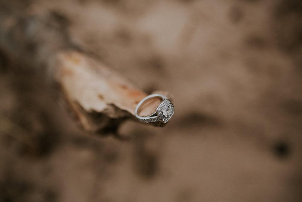 Diamonds engagement ring shot