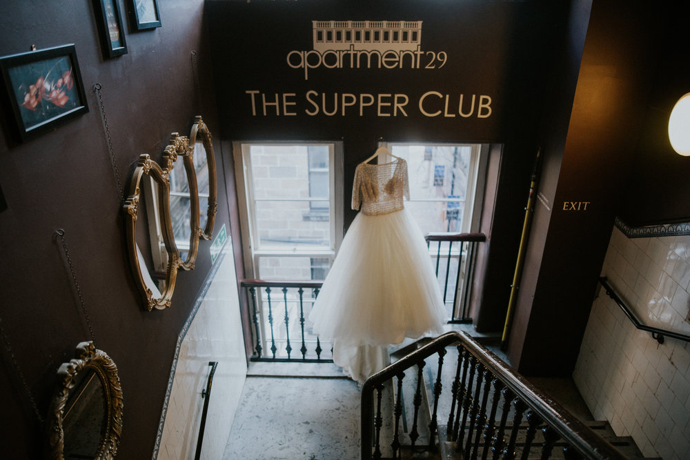 Melle Cloche wedding dress at the stunning 29 Private Members Club in Glasgow