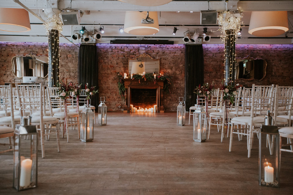 The stylish wedding decor for the black tie wedding at the 29 Private Members club in Glasgow