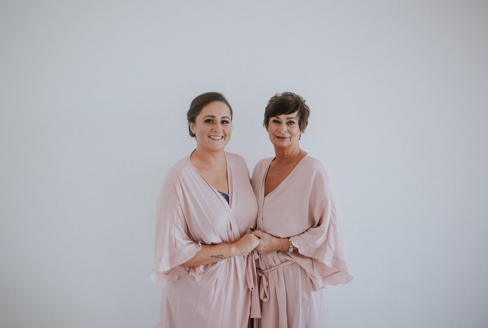 Portrait of the bride and her aunt