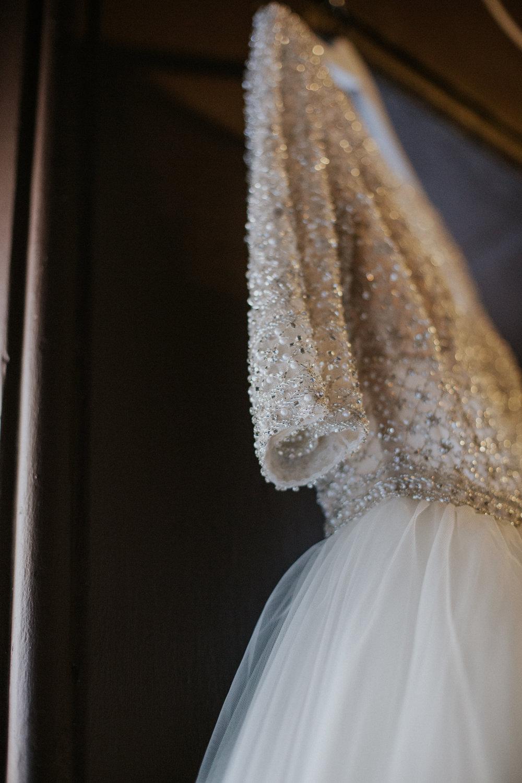Melle Cloche wedding dress close up details
