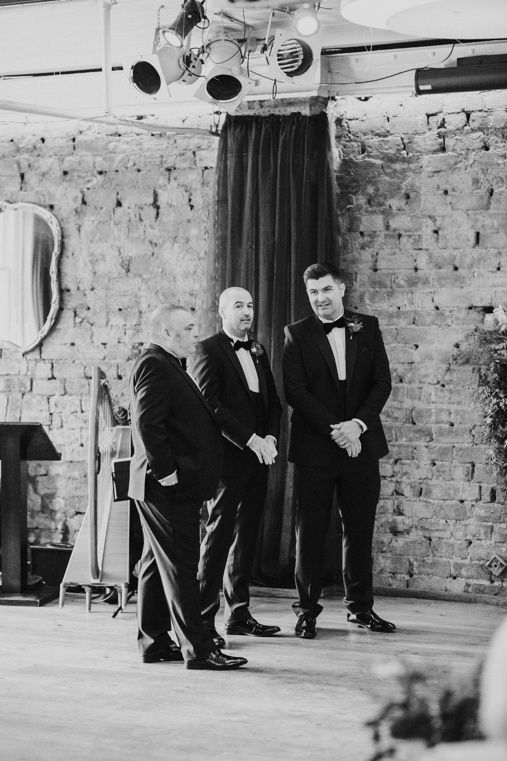 The happy groomsmen after the wedding ceremony at the 29 Private member club in Glasgow