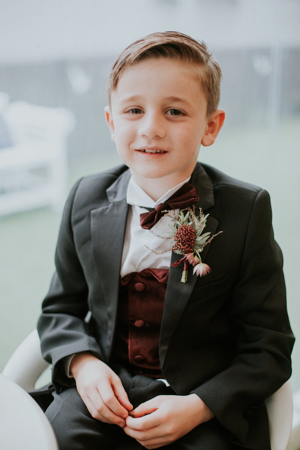 The portrait of the oldest son of the couple