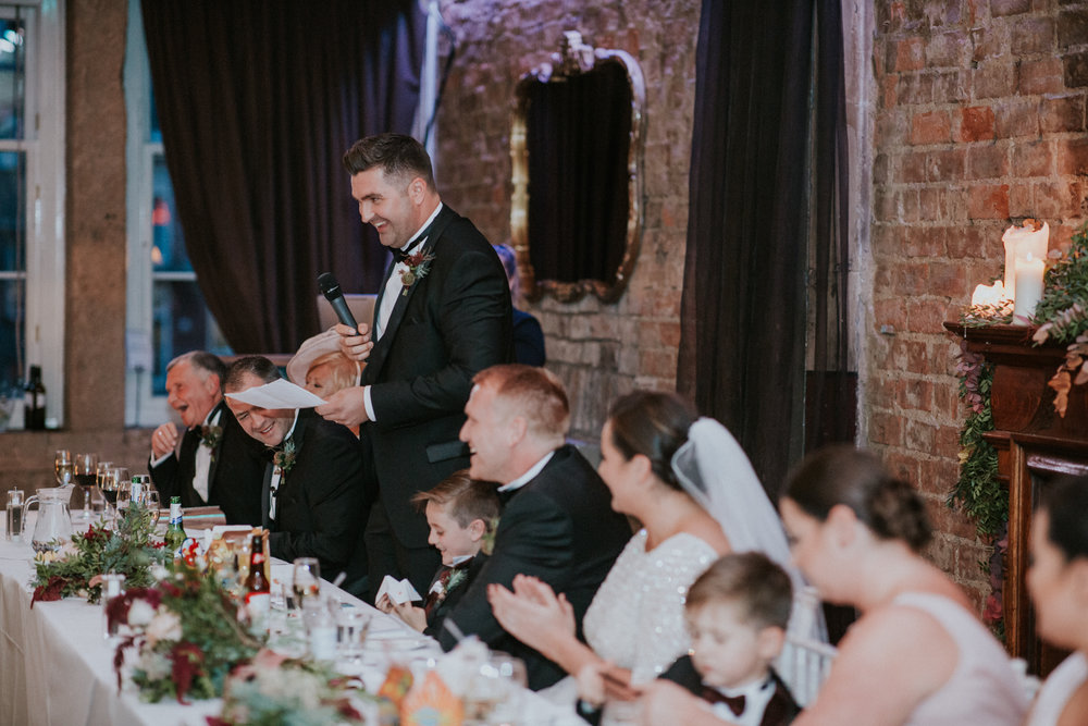 Best man speech at 29 Private members club in Glasgow
