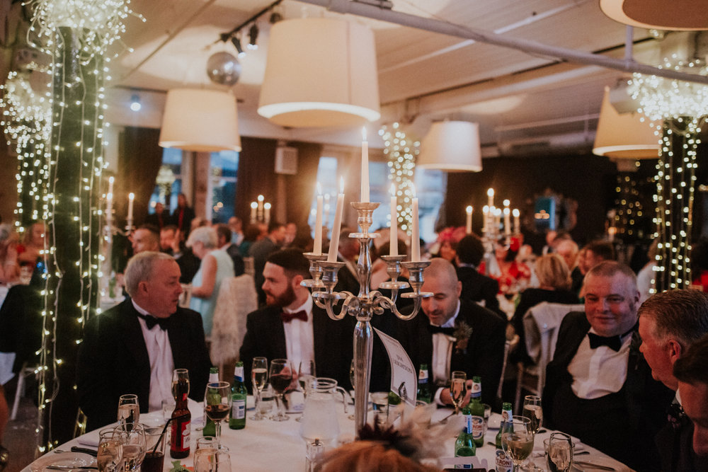Stylish city black tie wedding in the heart of Glasgow, 29 Private members club
