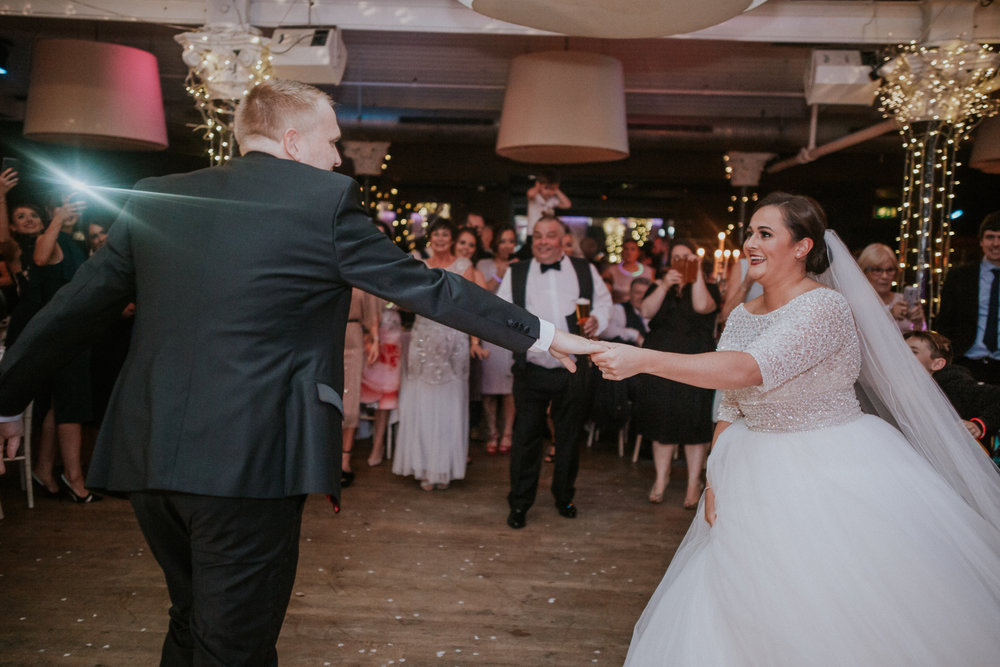 The happy couple is dancing at 29 Private members club in Glasgow