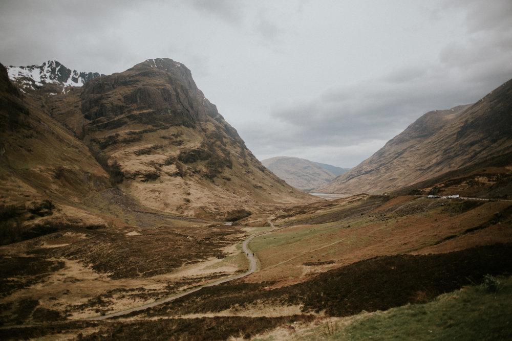 The Scottish Highland landscape of the Glencoe
