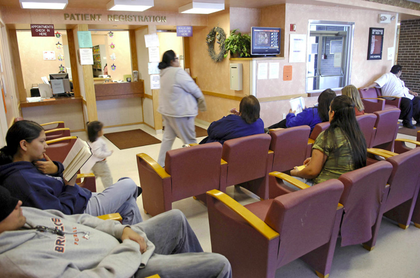 Patients in the wait room of an IHS clinic in Standing Rock, North Dakota. Photo courtesy for  Roll Call .
