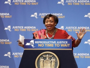 Majority Leader Andrea Stewart-Cousins. Photo courtesy of WNYC.