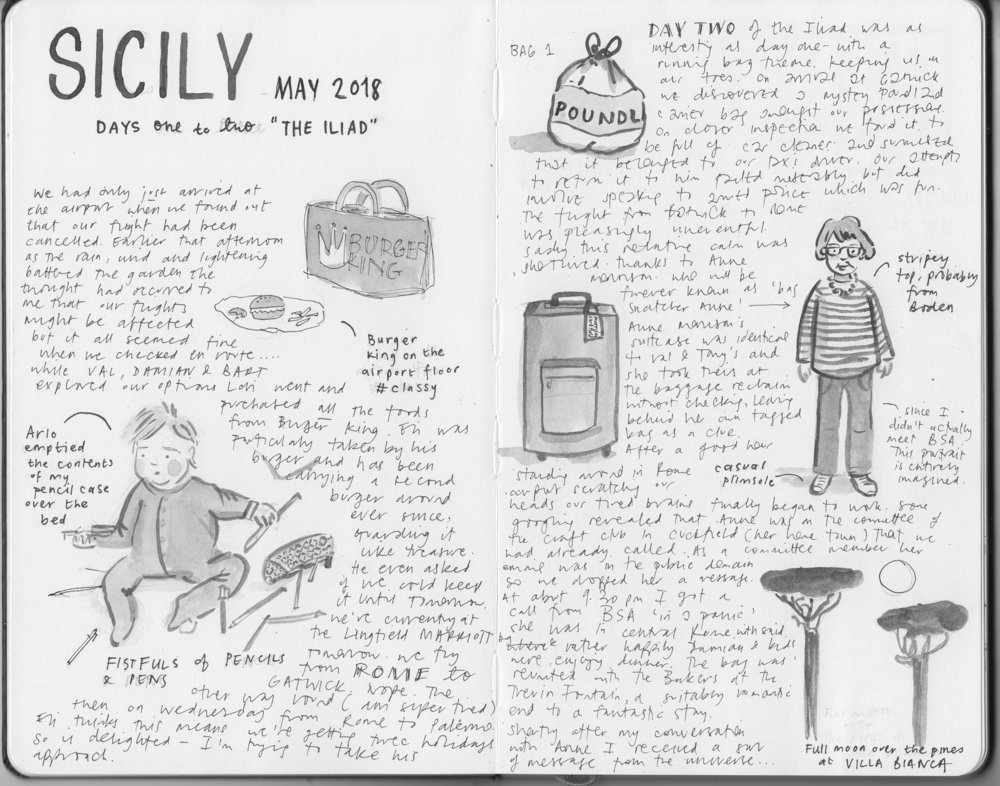 Illustrated journal about Sicily 1