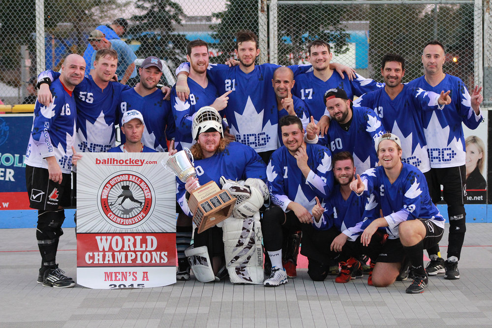 The Toronto Leaf's after winning the 2015 Men's A Championship